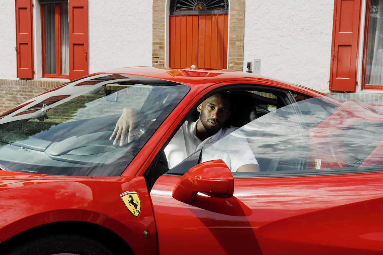 Kobe Bryant At Ferrari The Great Nba Champion Visits