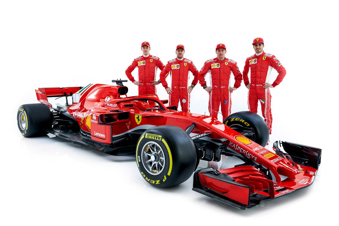 ferrari reveals its 2018 formula 1 car the sf71h modenacars en. Black Bedroom Furniture Sets. Home Design Ideas