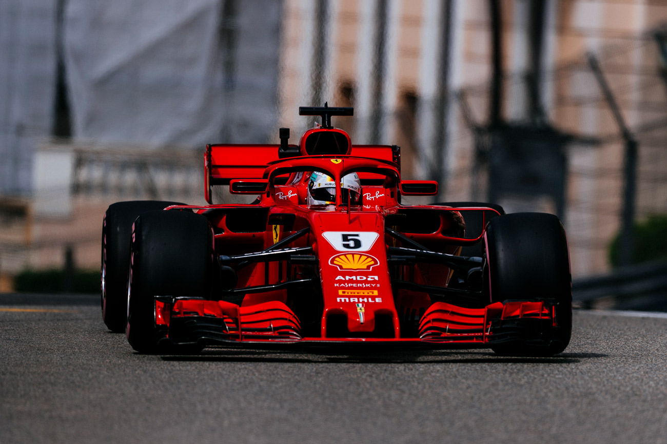 monaco grand prix seb 2 kimi 4 in a race where overtaking was not on the cards modenacars en. Black Bedroom Furniture Sets. Home Design Ideas